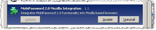 MobiPassword - Intégré