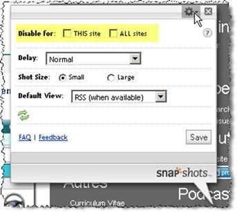 Snap Shots Options