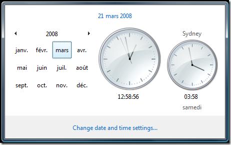 horloge en mode mois